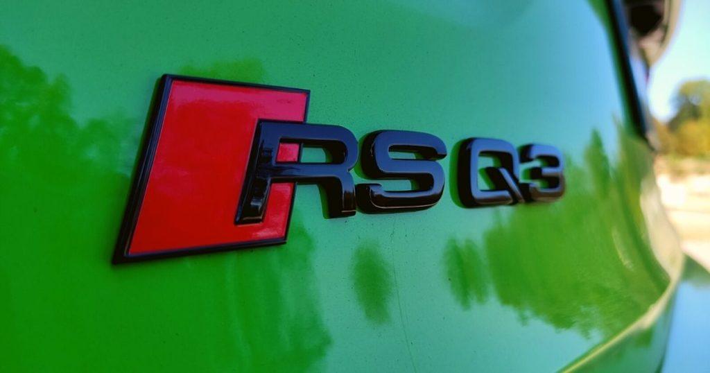 Audi RS Q3 Sportback inscription RS Q3 à l'arrière