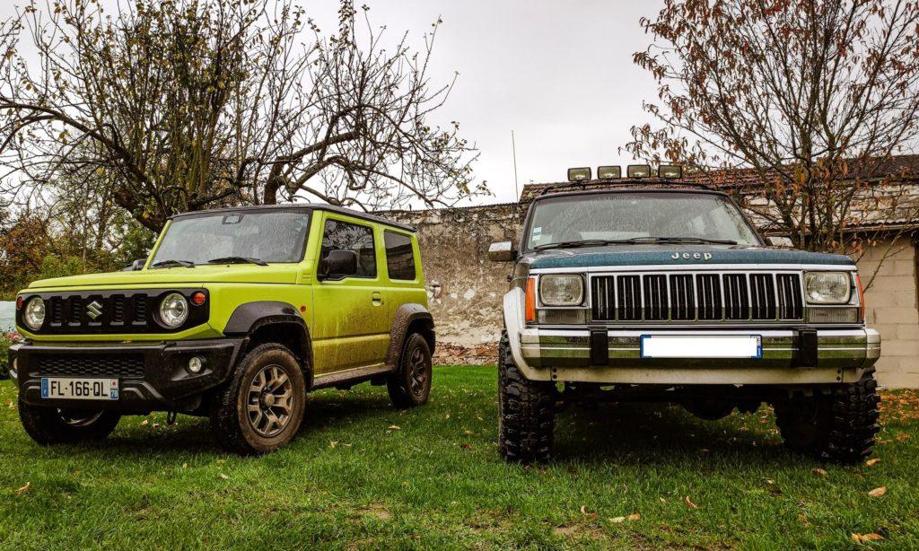 Suzuki Jimny et Jeep Cherokee
