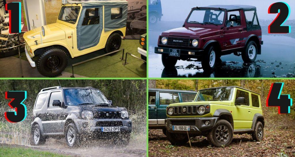 Suzuki Jimny : les 4 générations